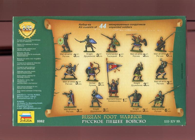 zv 8062 russische krieger zu fu 13 14 jhdt kai fuhrmann figuren und zubeh r. Black Bedroom Furniture Sets. Home Design Ideas