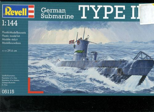 RE 05115 German Submarine Type IIB 1:144